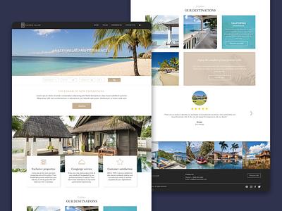 Luxurious Travel website design branding app design interaction design website web design ux ui