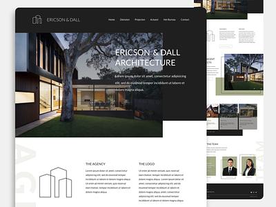 Architectural website UX/UI Design website architecture landingpage real estate clean design home page design web design ux ui