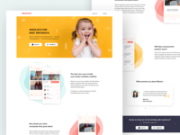 Landing Page for Kids Wishlists App