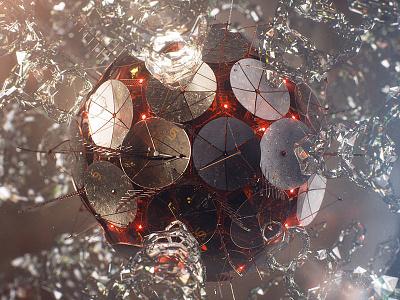 Satellite cinema 4d vray satellite particles glass render