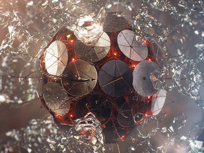 Satellite cinema 4d vray satellite particles glass render