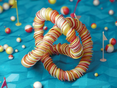 Knot cinema 4d c4d 3d plastic knot vray v-ray photorealistic