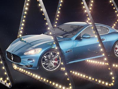 Maserati GT maserati gt car carpaint vray cinema 4d ae lamp bulb triangle