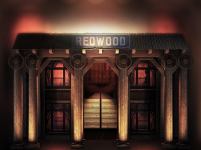 Old saloon #1 saloon c4d cinema 4d redwood wood western mapping 3d