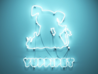 Yuppipet c4d blue light neon 3d cinema 4d