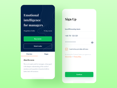 Life Architect App login register sign in signin signup sign up stages overview play watch trailer video player ux courses uiux ui app course app course