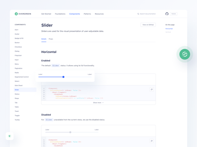 Evergreen - Segment's Design System live preview components navigation props github segment product design file upload code alert checkbox empty state empty page filepicker documentation style guide styleguide design system design