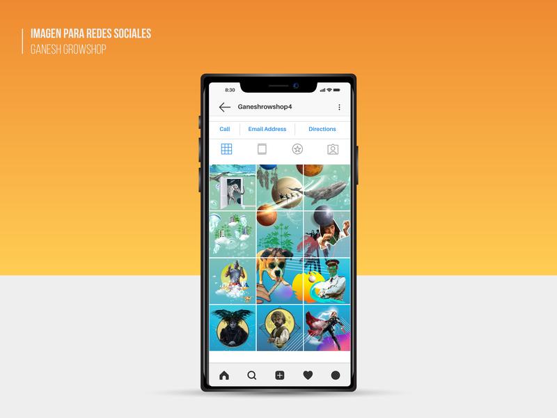 Collage para Redes Sociales collage publicación de instagram diseño de volante diseño