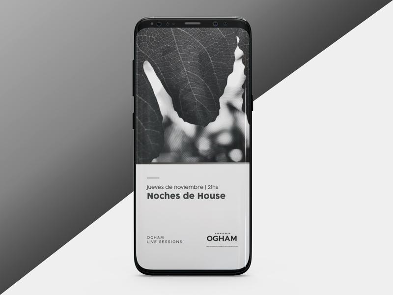 Video story design for Ogham redes social publicación de instagram diseño