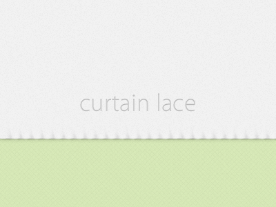 Curtain lace effect