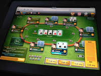 HTML5 Poker Game on iPad