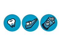 Dental office website vectors.
