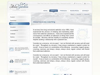 lifecoach website theming user interface gui web ui web design theme frontend