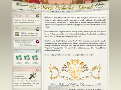 Church website webdesign website ui. ux web site user interaction user experience