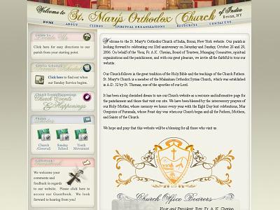 Church website webdesign website ui. ux web site user interaction user experience