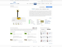 internal product page UI