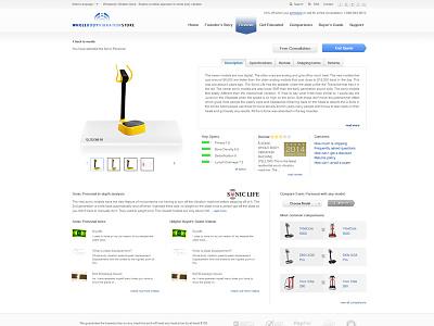internal product page UI ui