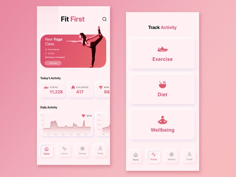 FitFirst skeumorphism fitness sport app vector icon flat sketch photoshop ui design