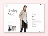 Bexley Mac Wardrobe UI