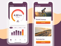 Fitness App Concept ux tracker activity interface bike sport fitness ios iphone application ui