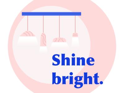 Shine bright. sketch branding web icon ux design illustration