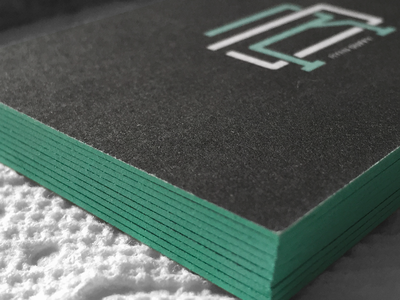 Personal edge painted business cards