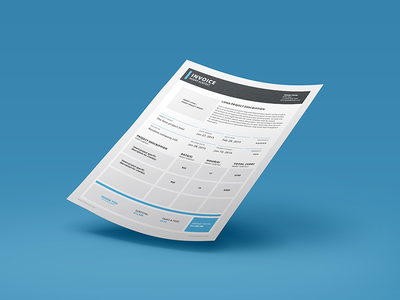 Invoice (Simplified v1) invoice adobe indesign invoice template