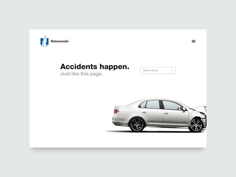 404 Page insurance landing page 404 page 404 008 website web interface dailyui ux minimal ui challenge