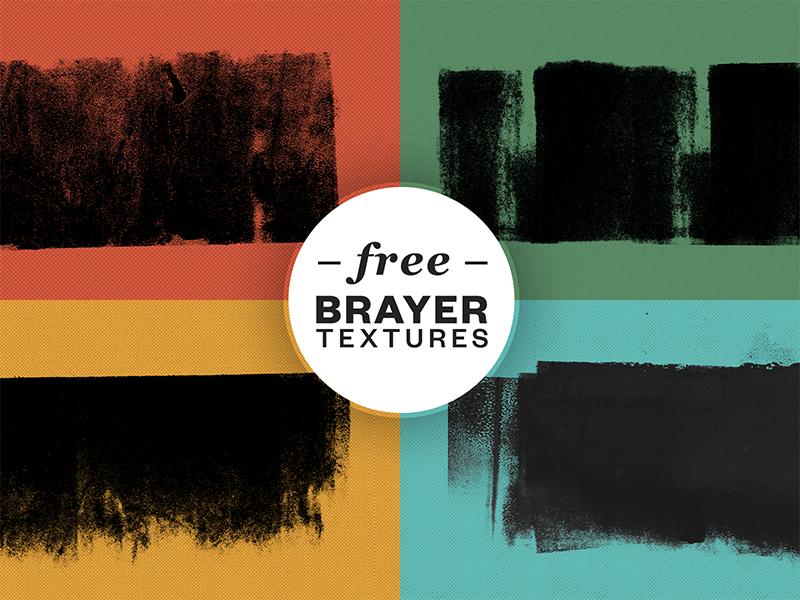 FREE Brayer textures grunge psd texture pack freebie textures brayer textures