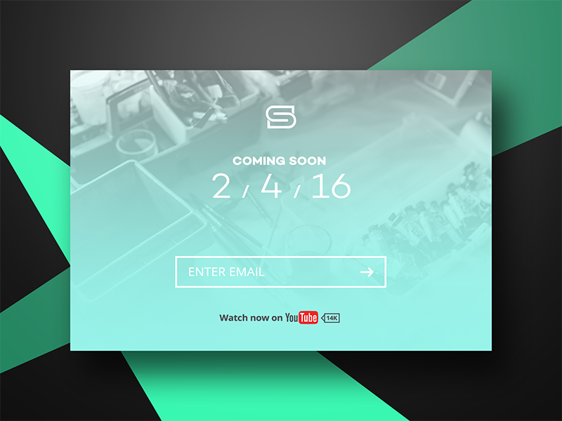 Coming soon page // 048  coming soon info information day 048 daily dailyui minimal youtube photoshop dark management coming soon page