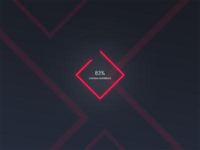 Progress bar // 085 ux ui experince polygon minimal dailyui daily day 086 photoshop loading bar loading progress bar
