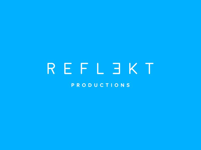R E F L E K T branding reflekt productions logo mark logotype logo dj logo dj