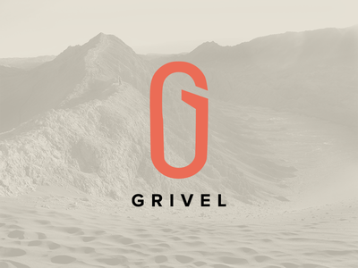 Grivel mountains outdoors rock climbing carabiner minimal mark cg logo branding logo