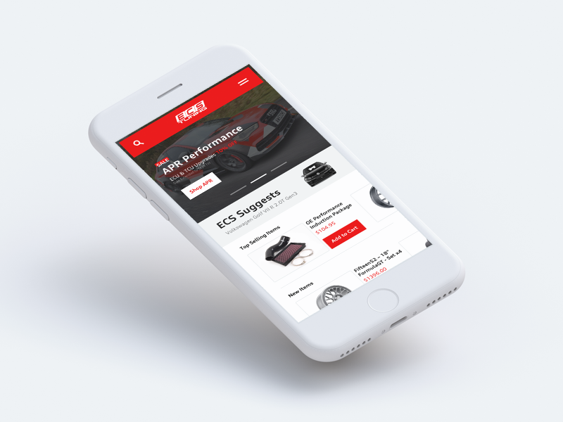 ECS Tuning app by Ryan Duffy on Dribbble