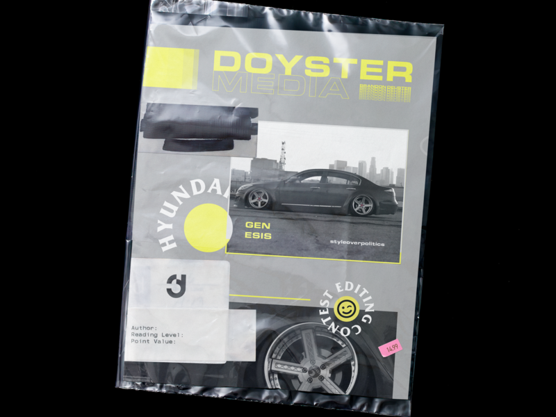 001 : Doyster Media ascetically pleasing car magazine layout indesign minimal poster a day poster