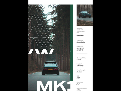 002 : MK1 camera mk1 vw poster poster a day minimal indesign layout magazine car ascetically pleasing