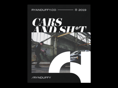 003 : Cars & Stuff video 2019 branding logo ryan duffy poster poster a day minimal indesign layout magazine car ascetically pleasing