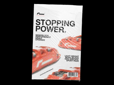 004 : Stop ad magazine cover brakes racingline ascetically pleasing car magazine layout indesign minimal poster a day poster vw camera