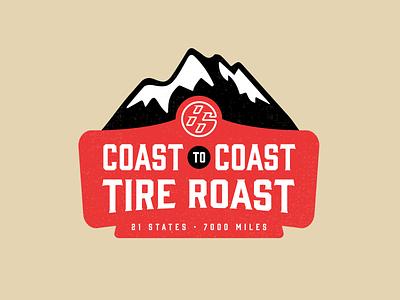 USA Road-Trip Logo vector ai illustrator branding design car club 86 mountains road trip branding logo