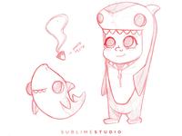 8Tree Shark Girl Concept