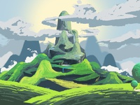 Mossy Mountain Concept Art
