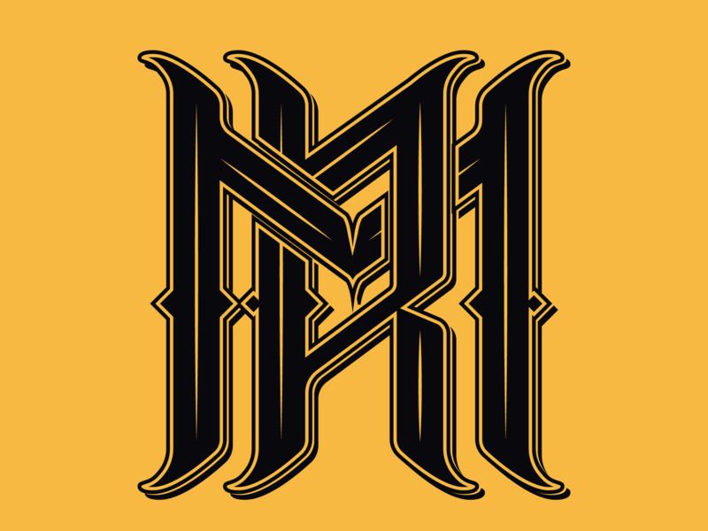 Mr Royal Monogram vector artwork illustrator logo 2d monogram logo brand and identity brand icon type art type monogram lettering typography design branding vector logo