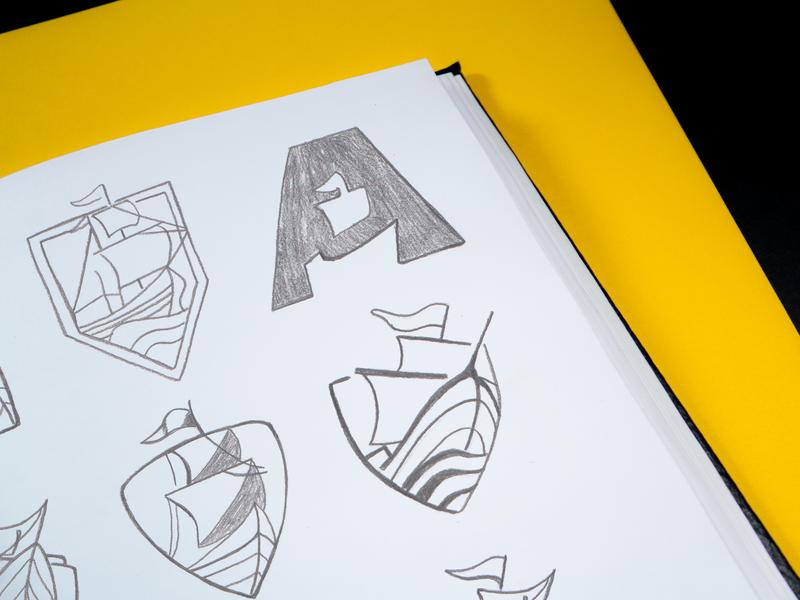 Argus Brand Sketch logo a day icon design typography icon brand assets draft brand art sketch design illustration branding vector logo