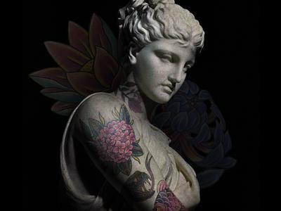 Scupultats Sublime Studio photoshop photo art photo manipulation renaissance modern art art board tatto tattoo design tattoo artist tattoo art tattoo sketch draft conceptart art design concept art illustration