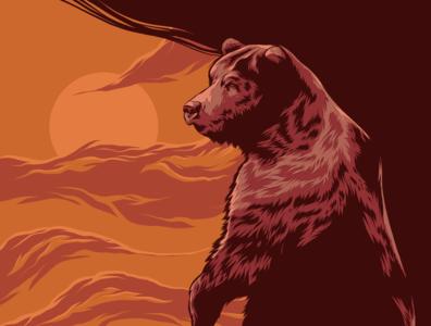 Bear squirrel bear animal art movie poster logo posters branding poster design poster art vector illustration design