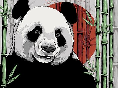 Panboo pandas animal panda logo bear bamboo panda bear panda badge animal art logo branding posters poster design vector poster art illustration design