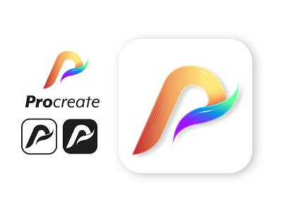 #GetCreativeWithProcreate logos redesign procreate logo web app icon typography ux ui vector illustration design