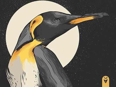 Penguin King animals bird black penguin logo penguins penguin animal animal art logo posters poster design poster art vector illustration design