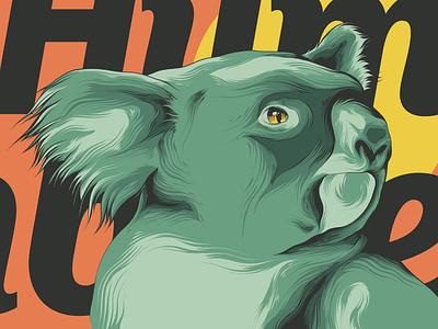 Koala animal badge animal art logo branding posters poster design poster art illustration vector design koala bear koala