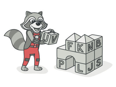 Raccoon Character character character design web vector illustration